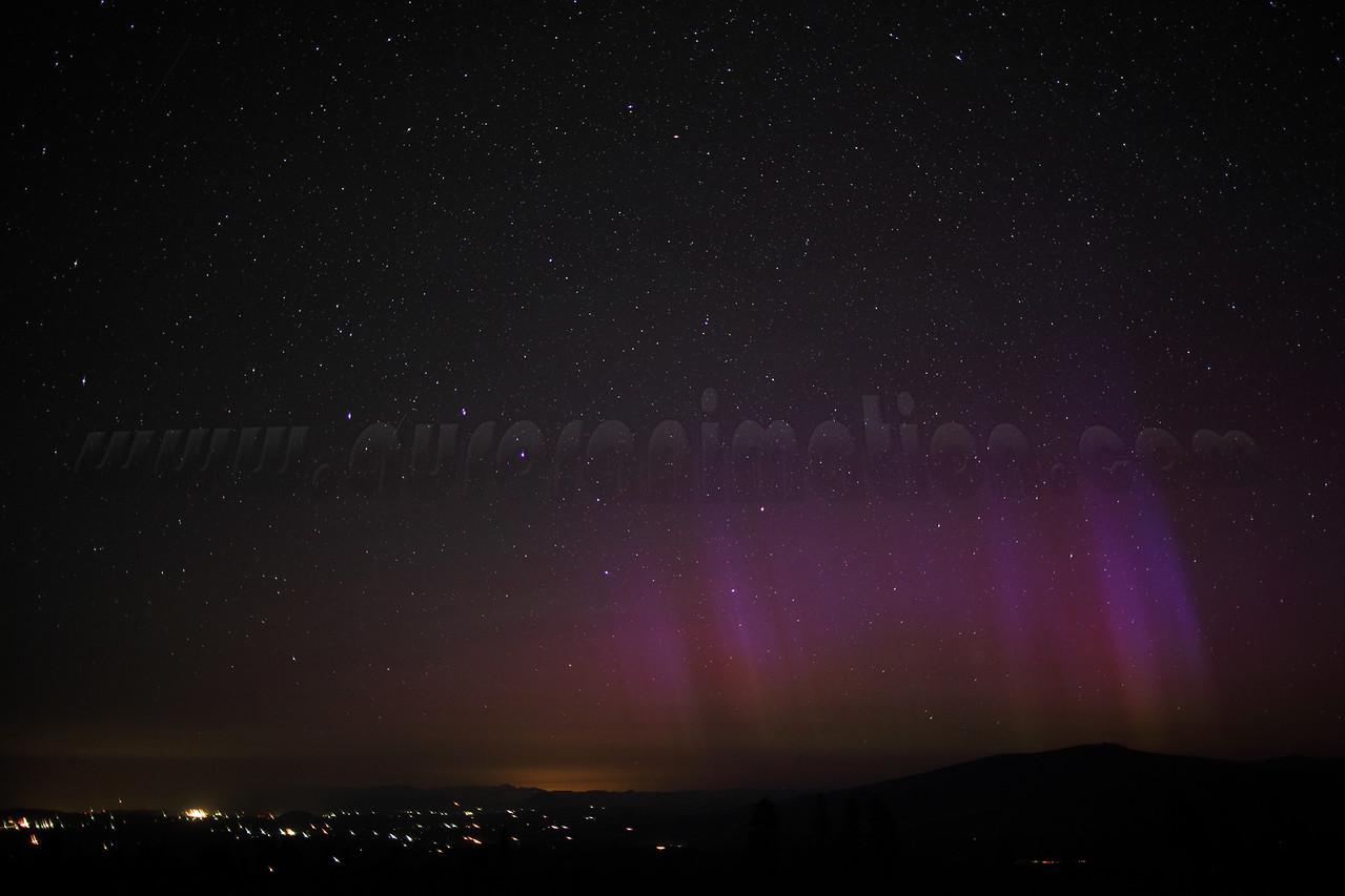 California Northern Lights: Mt Shasta on July 15 2012