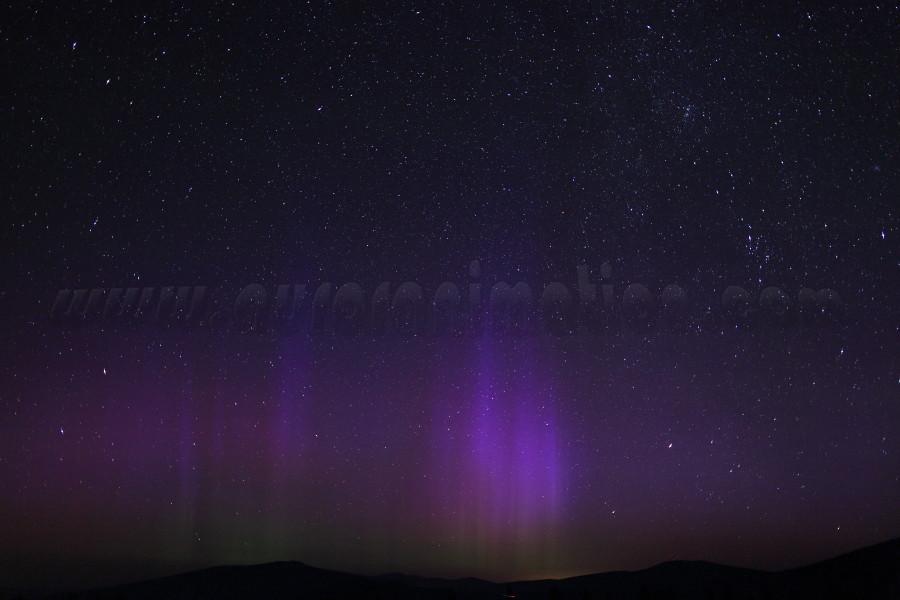 Aurora in California:  Mt Shasta on July 15 2012