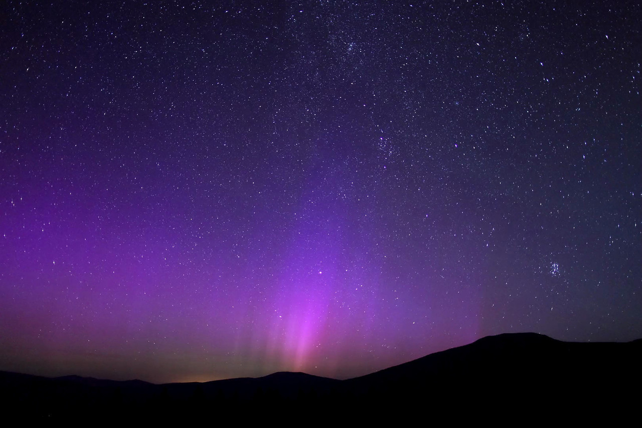 Time Lapse Clip: Northern Lights and Alignment in California