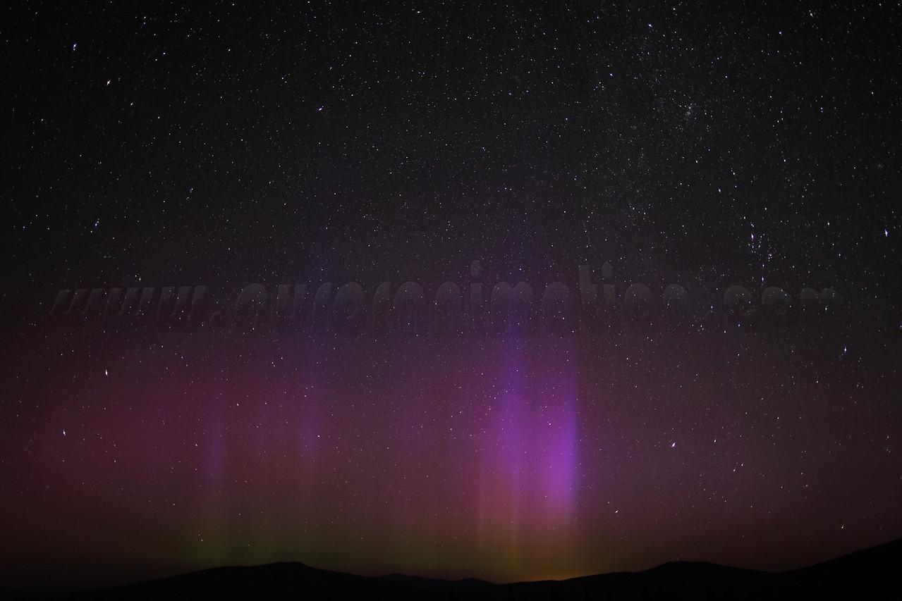 The Northern Lights in California - Mt Shasta