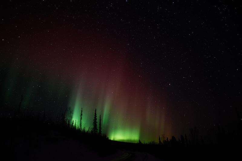 New Moon Aurora in Alaska on March 11, 2013