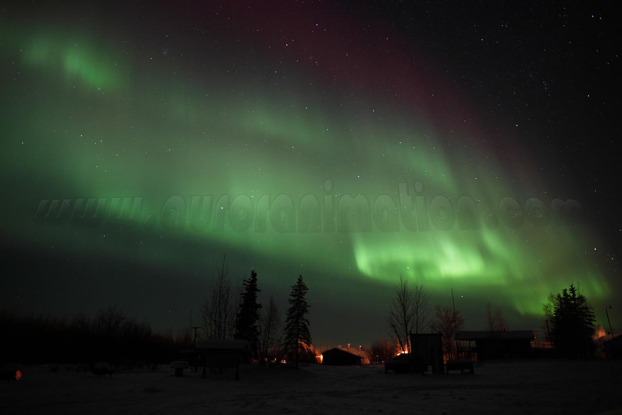 Aurora Borealis over Circle, Alaska