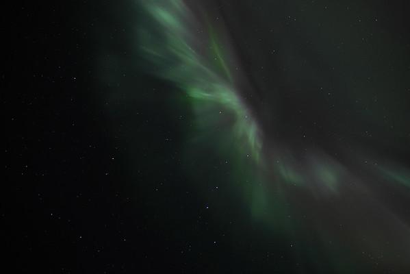 Aurora Borealis Corona (overhead) on March 1 2011 Circle, Alaska