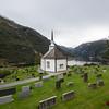 Geiranger Church built in 1842. Geiranger, Norway. Sept. 17, 2019