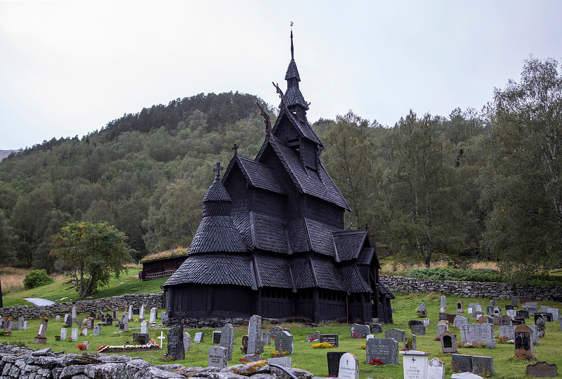 Borgund Stave Church, Borgund, Norway. Sept. 13, 2019