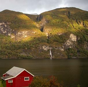 Aurlandsfjord Waterfalls