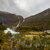 Kårdalsfossen Waterfall and  Moldani  River, Flam Norway. Sept 15, 2019