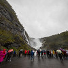 Kjosfossen Waterfall Flam Railway, Norway. sept. 15, 2019