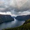 The Stegastein Lookout above Aurlandsvangen, Norway Sept, 13, 2019