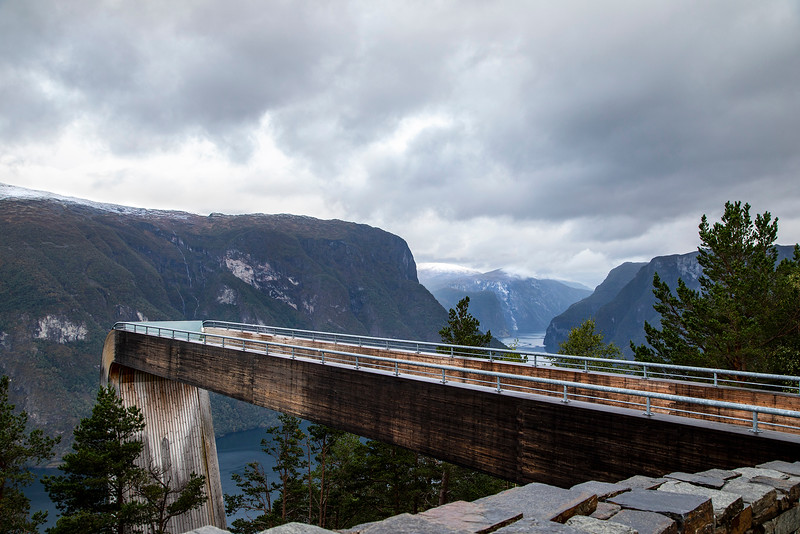The Stegastein Lookout above Aurlandsvangen, Norway Sept, 13, 2019