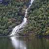 Bringefossen waterfall in the Geirangerfjord, Norway. Sept. 16, 2019