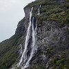 Seven Sisters waterfall along the Geirangerfjord Norway. Sept. 16, 2019