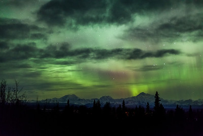 Alaska Range Aurora  from Talkeetna