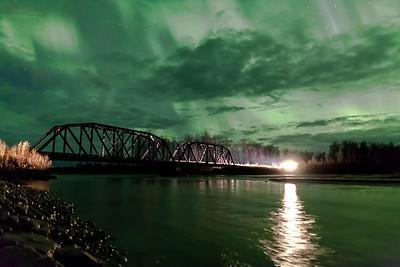 Aurora, Bridge & Train