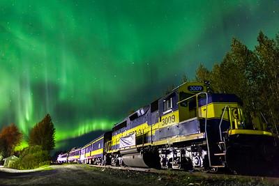 Alaska Train Aurora