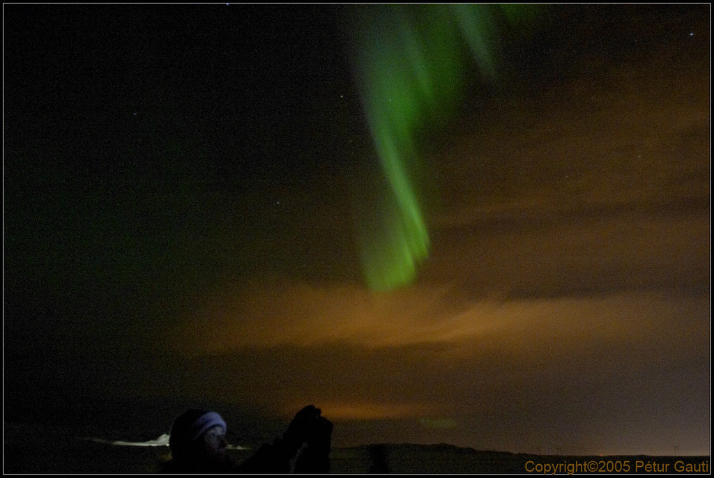 Northern Lights at Sandskeið, SW Iceland, January 7th 2005 (#1366)