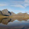 Flakstadpollen, Flakstad, Lofoten Islands, Norway. Sept. 24, 2019 Pano