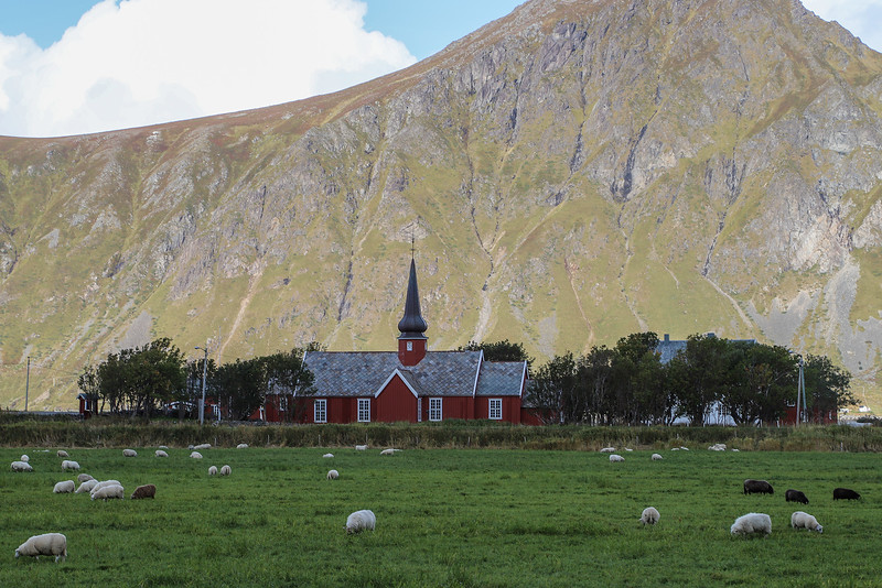 Flakstad Church, Flakstad, Norway Sept. 21st, 2019