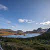 View of Selfjorden from Kvalvika Beach Trailhead, Fredvang, Norway. Sept. 22, 2019