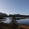 View of Selfjorden from hwy E10, Fredvang, Norway. Sept. 22, 2019