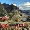 Hamnoy along the Vestfjorden, Lofoten Islands. Sept 21st, 2019