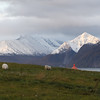 North Lyngen with the Lyngenfjord and the Lyngen Alps mountain range. Sept. 25, 2019.
