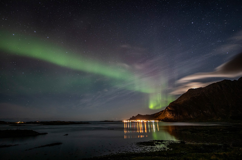 Northern lights over Ramberg, Norway 10-22-2019