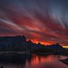 Sunset over Reine, Norway. Sept. 23 2019