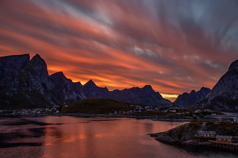 Sunset over Reine, Norway. Sept. 23, 2019