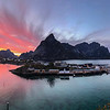 Sunset over Reine, Norway. Sept. 23, 2019 Pano iphone 7