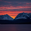 North Lyngen with the Lyngenfjord and the Lyngen Alps mountain range. Pano. Sept. 24, 2019.