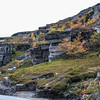 Spectacular shale rock formations on Mageroya Is., Norway. Sept. 25, 2019
