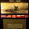 Murmansk Covoys Memorial plaque. North Cape Nordkapp, Norway. Sept. 25, 2019
