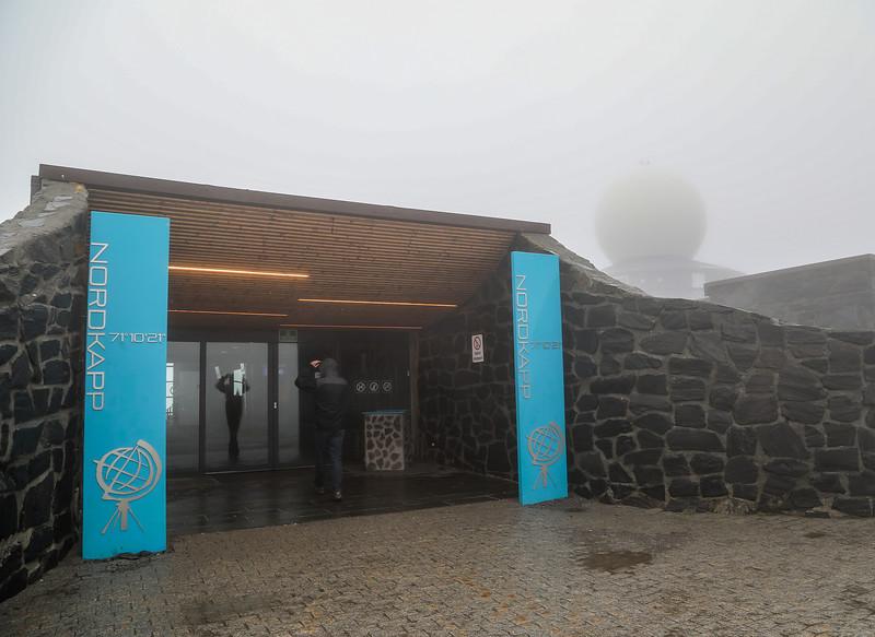 Entrance to Nordkapp Visitor Center. Sept. 25, 2019