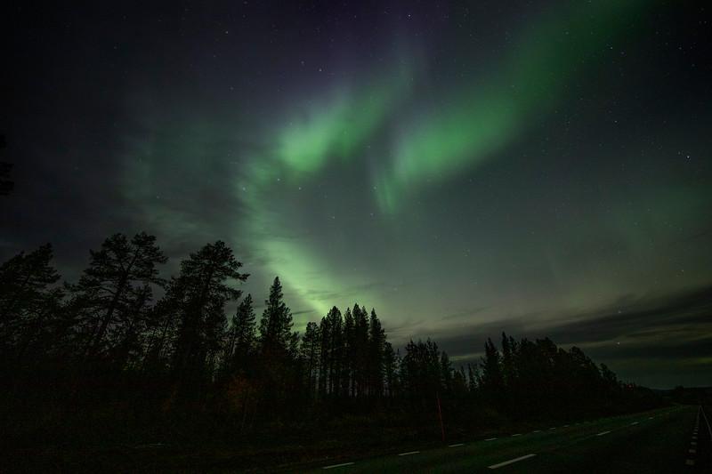 Northern Lights over Svappavaara, Sweden Sept. 28, 2019