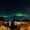 Northern lights over Reine, Norway 10-20-2020