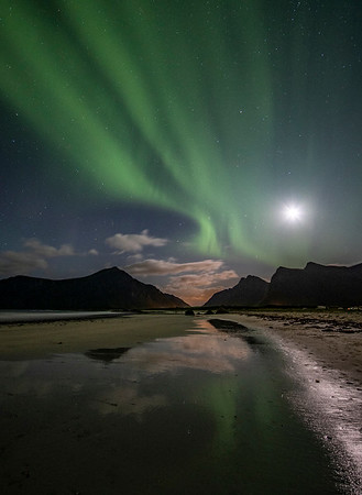 Northern Lights over Norway and Sweden 2019