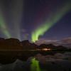 Northern lights over Flakstad, Norway 10-21-2020