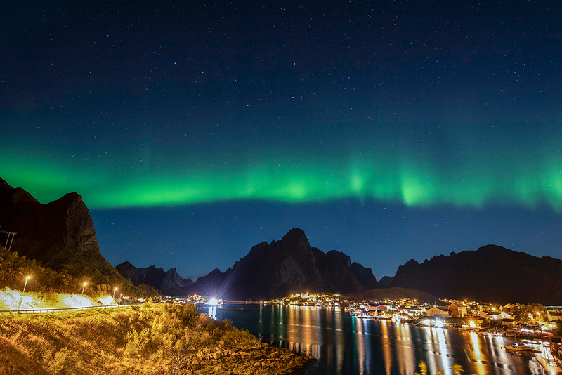 Northern lights over Reine, Norway 10-20-2020