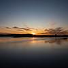 Sunset over the Lainio River from Nedre Soppero, Sweden. Sept. 28, 2019