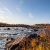 Tornio River marks the Finnish-Swedish border and runs 345 miles. Litto, Finland. Sept. 28, 2019