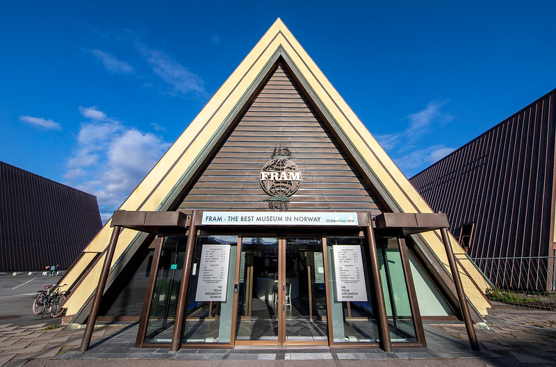 The Fram Museum is a museum telling the story of Norwegian polar exploration. Oslo, Norway. Oct. 1, 2019
