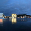 Oslo Opera House from Harbor Waterfront. Oslo, Norway. Oct. 1, 2019 Iphone 7+ Pano