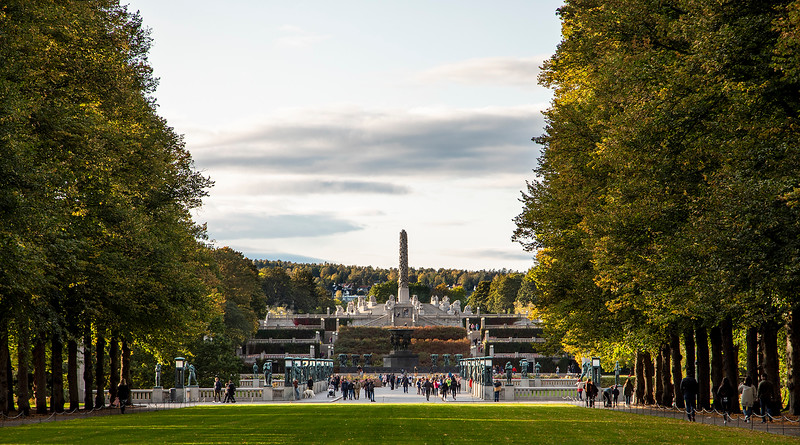 Frogner Park and the Vigeland Installation. Oslo, Norway. Oct. 1, 2019