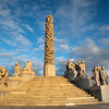 The Monolith Plateau is a platform in the north of Frogner Park made of steps that houses the Monolith totem itself