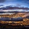 Sunset over Tromso (Fjellheisen). Sept. 26, 2019 Pano