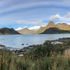 Flakstadpollen is a bay north of Flakstadoya Flakstad, Norway . Pano