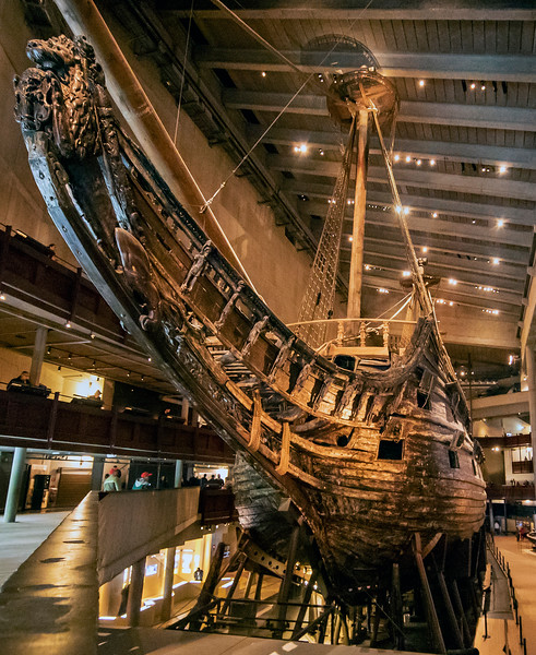 The Vasa is a Swedish warship and sank on her maiden voyage in 1628. Vasa Museum, Stockholm, Swedem. Sept. 30, 2019