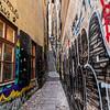 The Narrowest street in Stockholm, Sweden. Sept. 30, 2019