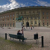 Stockholm Palace (Royal Palace) in Gamla Stan, Stockholm, Sweden. Sept. 30, 2019. Pano Iphone 7